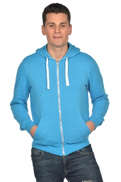 Sweat Zippé Capuche Chiné Mixte 260