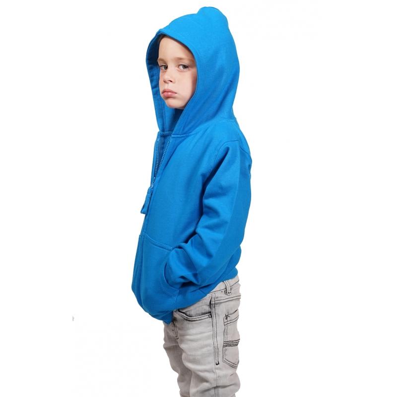 sweatshirt zipp233 224 capuche enfant