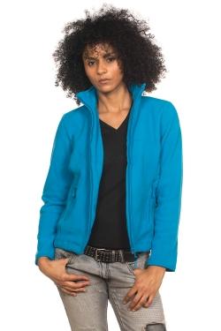 Veste micropolaire zippée Femme 100% polyester