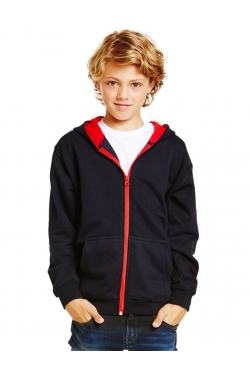Sweat-shirt zippé à capuche Varsity Enfant
