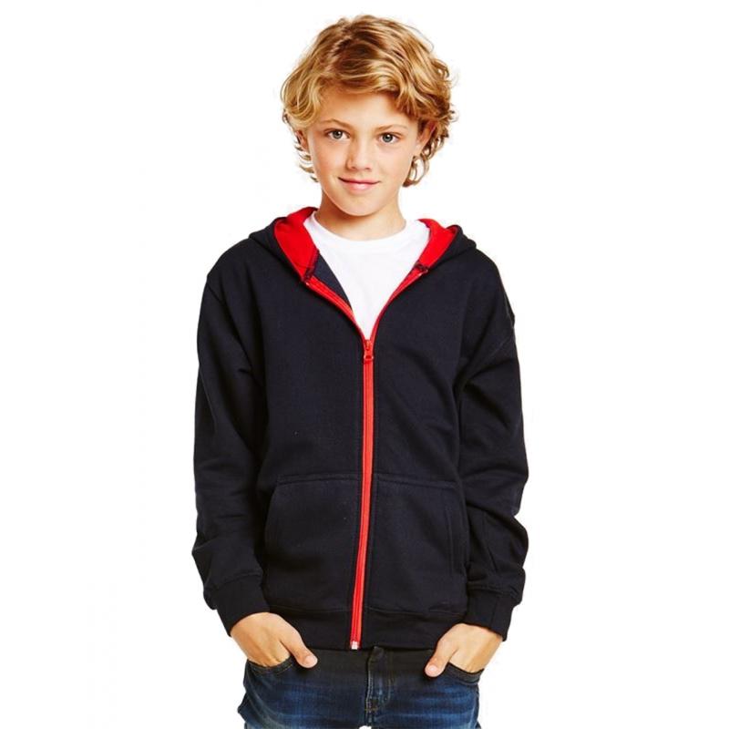 sweatshirt zipp233 224 capuche varsity enfant