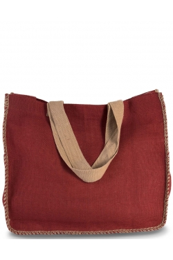 SAC JUTE COUTURES CONTRASTEES