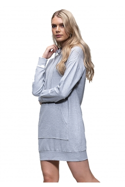 Robe sweat shirt à capuche