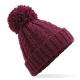 Bonnet en laine mélangée torsadée