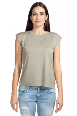 BE8804 - T-shirt Flowy à manches roulottées