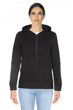 Organic zipped hood femme 280
