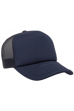 Foam trucker curved visor