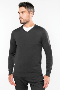 Pull Homme Col V 50%coton 50%acrylique